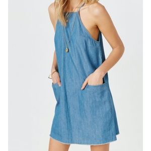 Urban Outfitters BDG High Neck Chambray Shift